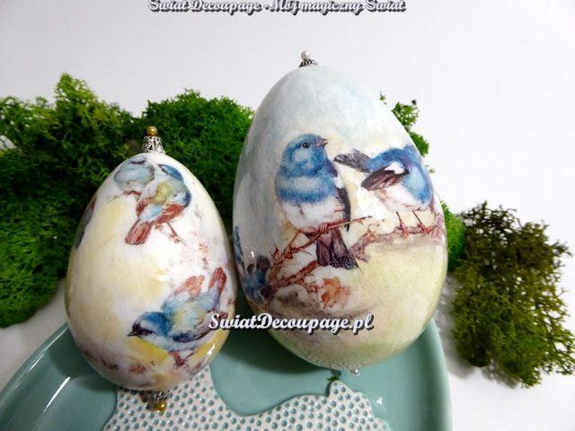 Świat Decoupage -  Mój magiczny Świat : pisanki z ptaszkami