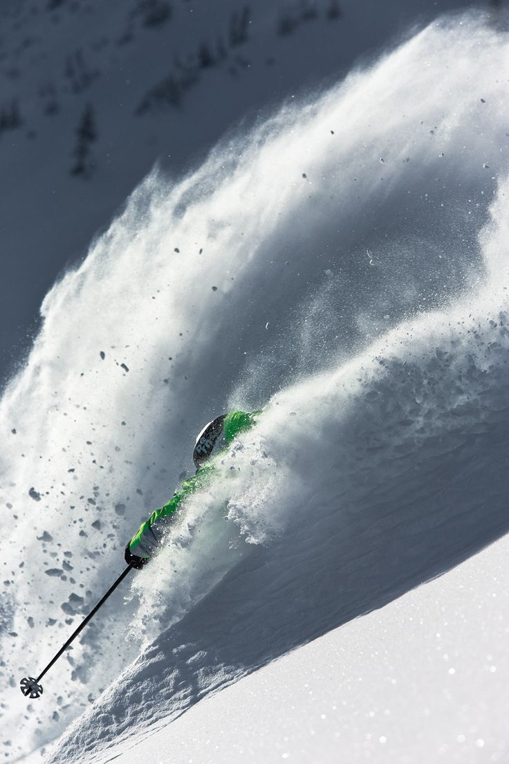 Breaking Powder - Skier: Parker Cook - Photo: Adam Barker - Skiing Magazine