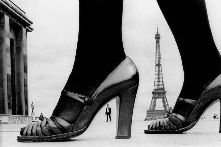Frank Horvat - The '70s - Fashion & Illustration // 1974, Paris, for Stern, shoe and Tour Eiffel