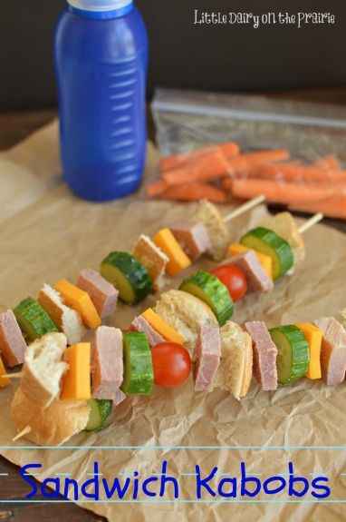 Sandwich Kabobs make sack lunches so much more fun!