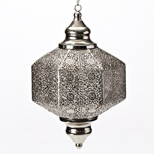 Moroccan Style Metal Hanging Lantern Measures 11 inches Beautiful metal lantern for home, prayer room or patio.