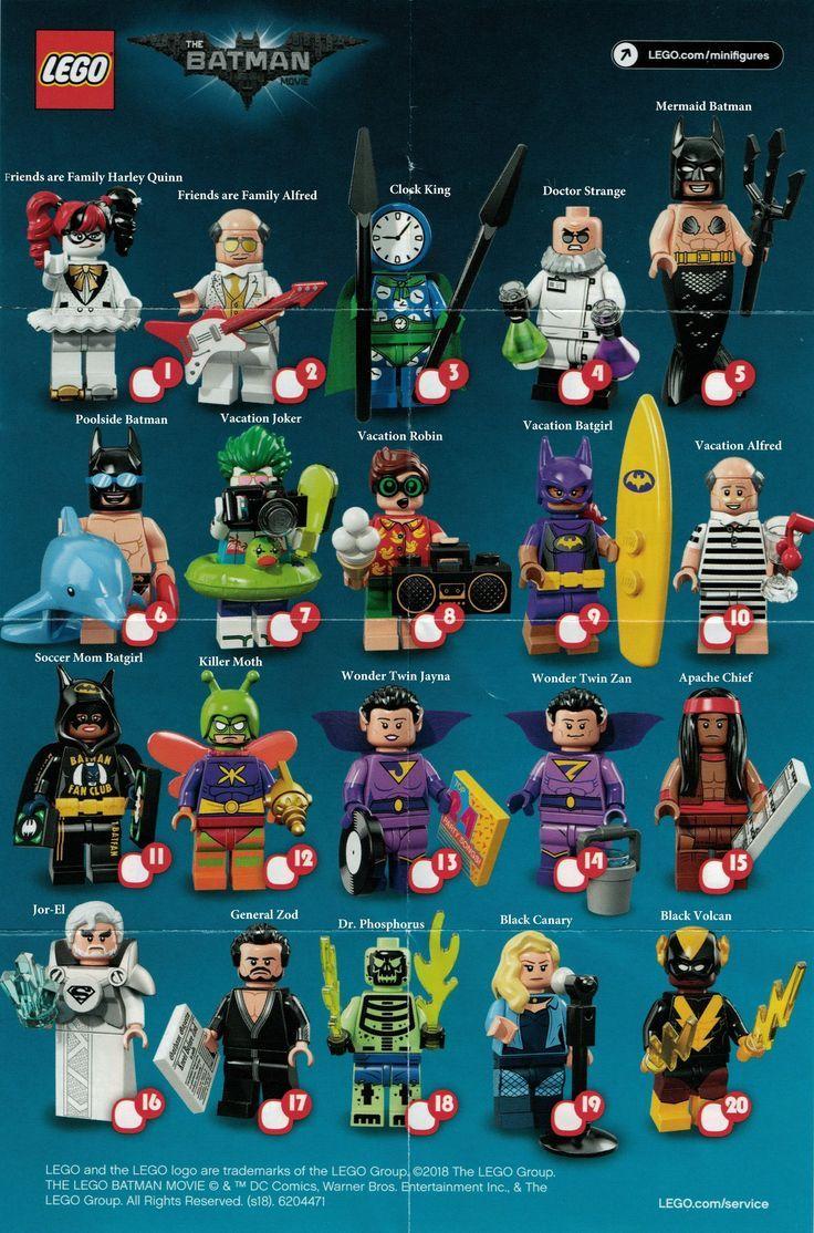 Choose Your Figure LEGO BATMAN MOVIE Minifigures Series 1-71017
