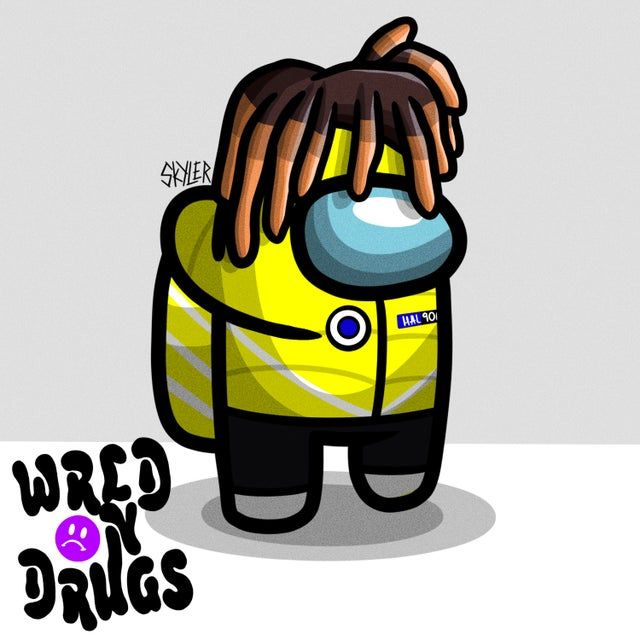 Juice Wrld Among Us Skins Ig Skyler Graphics Juicewrld Cute Sketches Cute Kawaii Drawings Black Anime Characters