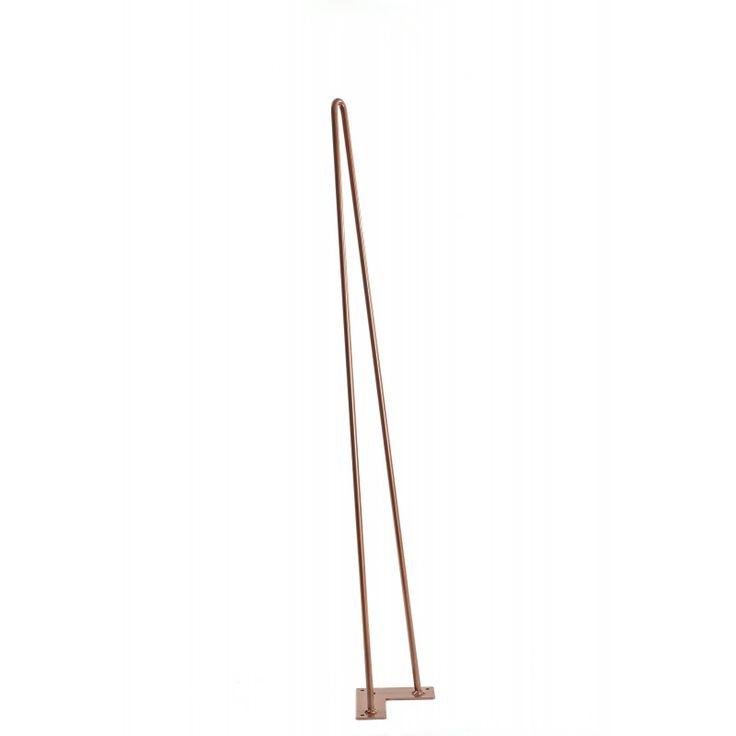 Le pied 2 tiges de 90 cm est idéal pour la confection d'une table haute, d'un îlot central - 6 coloris disponible – France - 20 euros