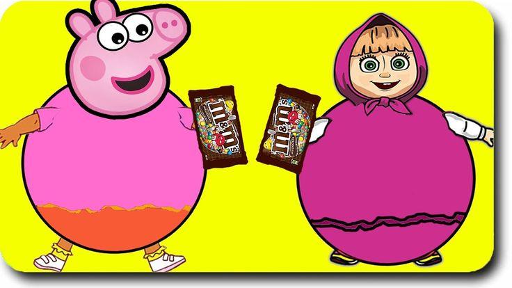 Peppa Pig Family New Episodes Parody   Masha Playing Gumball Machine