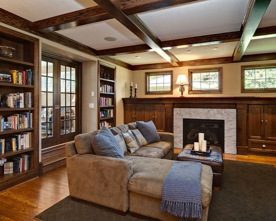 Family Room Craftsman Interior Design Home Design