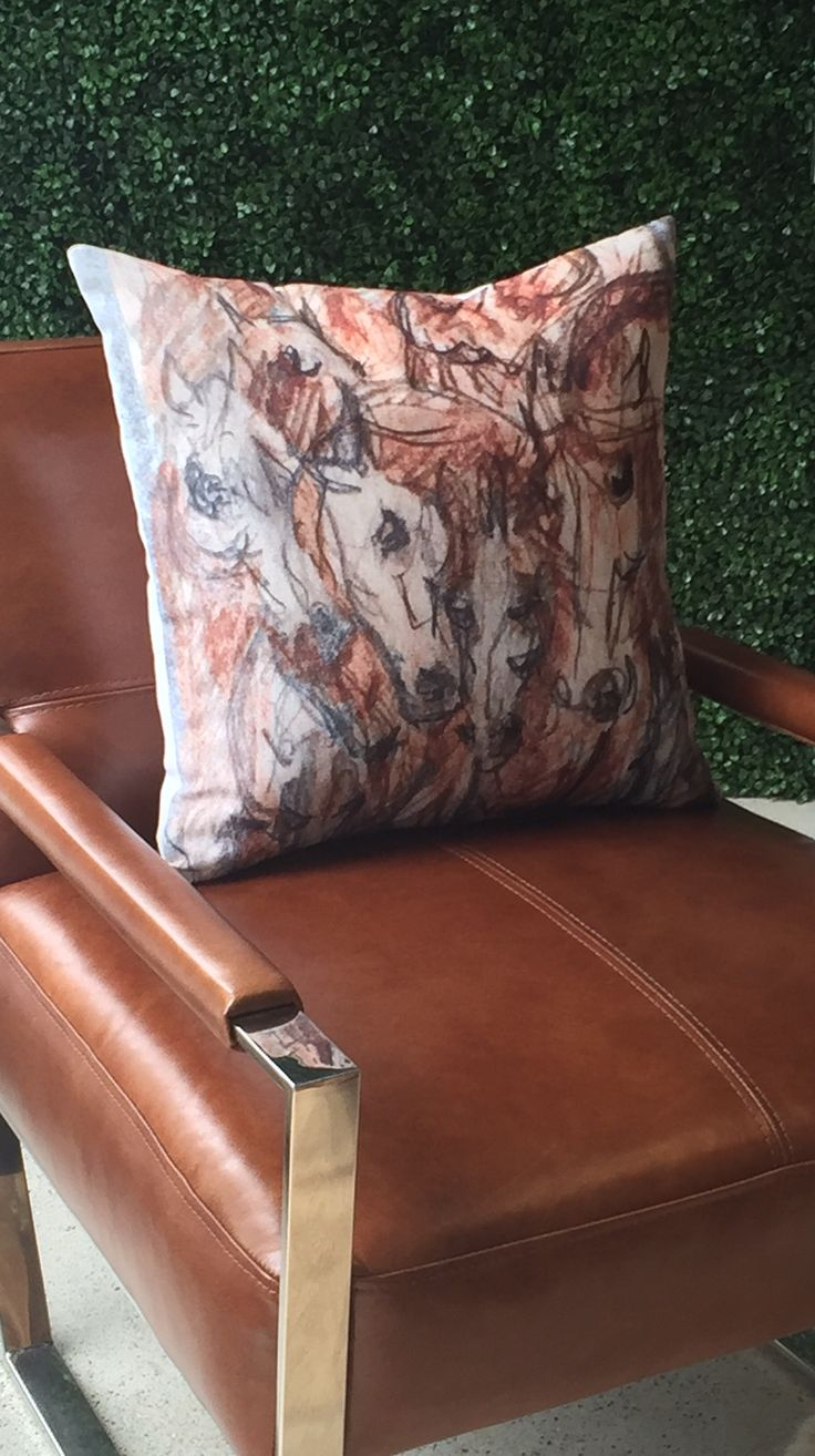 #Rustic #Modern #Decor #Linen #Horse #Pillow designed by #HorseEyeDesigns