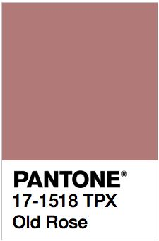 PANTONE 17-1518 TPX Old Rose Color values: RGB: 178-122-120 HEX/HTML: B27A78