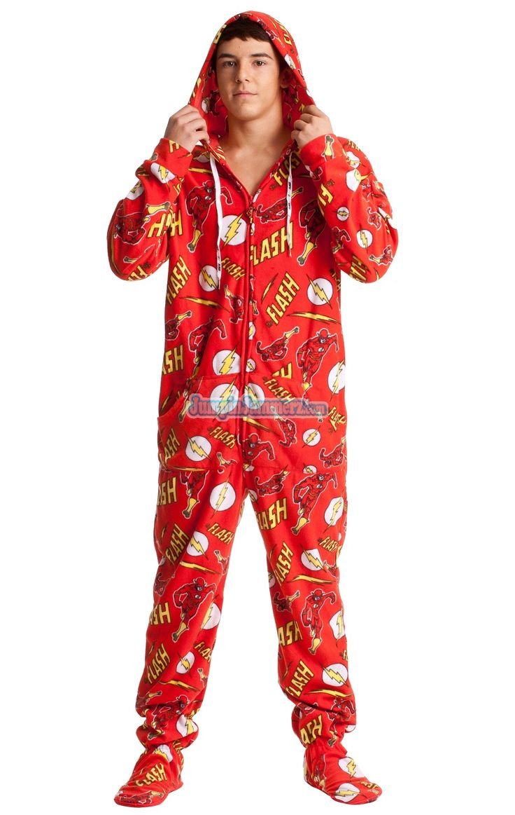 Buy The Flash Adult Onesie Pajamas from DC Comics Online | #1 Pajama Store