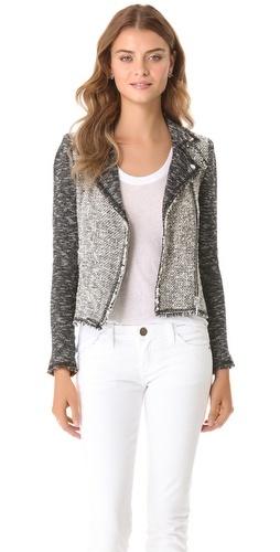 Rebecca Taylor Tweed Moto Jacket