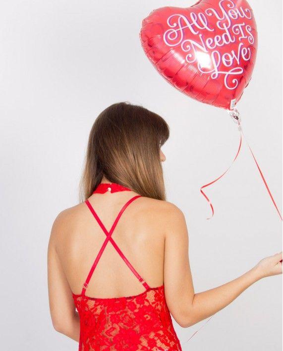 ΚΟΡΜΑΚΙ ΑΠΟ ΔΑΝΤΕΛΑ ΚΑΙ ΔΙΑΦΑΝΕΙΑ lace body red fashion women lingerie 2017