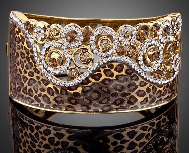 Animal print bangle bracelet kod 124228