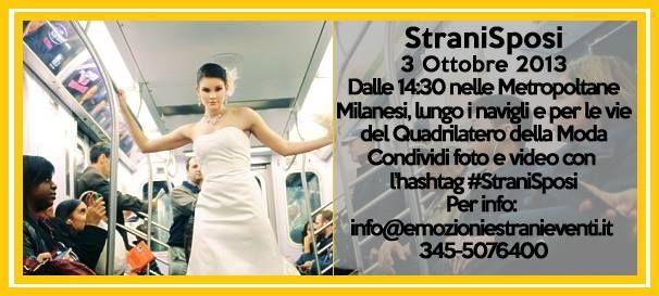 Abiti inusuali e incontri con fantastici fornitori per il tuo matrimonio, tutto questo è #StraniSposi il 3 ottobre a Milano https://www.facebook.com/events/411004055667776/