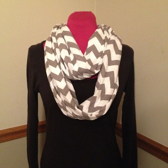 Just Between You & Me (TM) Infinity Nursing Scarf - GREY CHEVRON nursing cover. Ships in 1-3 business days.