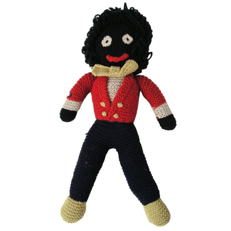 Gollywog Red Coat Crochet Doll | From a unique collection of antique and modern toys at https://www.1stdibs.com/furniture/folk-art/toys/