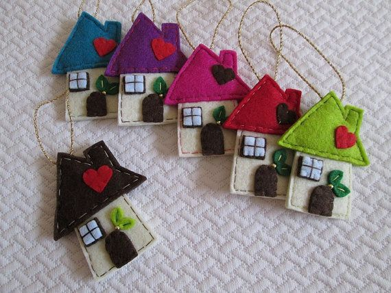 Felt Christmas ornament  Felt Ornament for by TinyFeltHeart