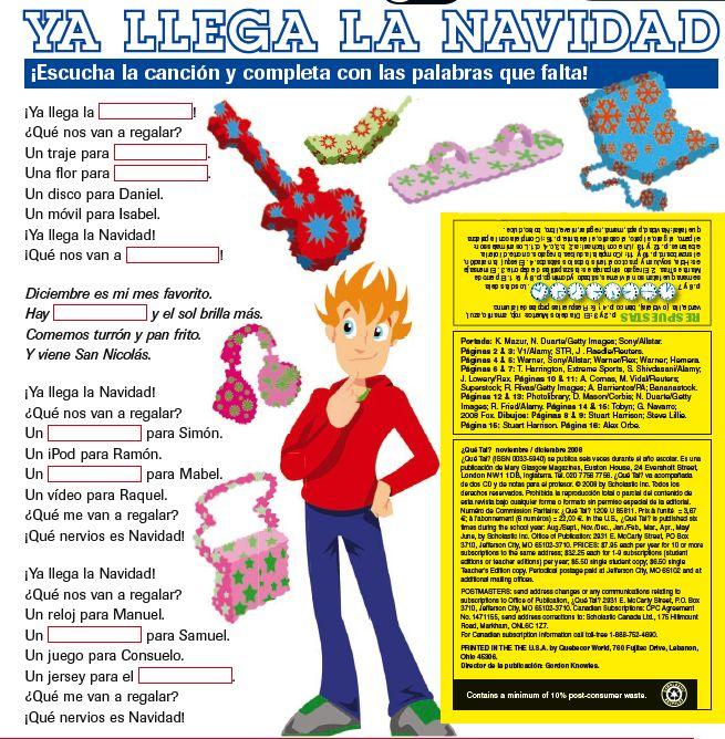 82 best Navidad/Fin del ano images on Pinterest | Teaching spanish ...