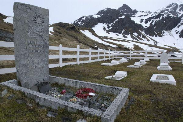 Sir. Ernest Shackleton's grave, Grytviken, South Georgia Island, Oct. 2011