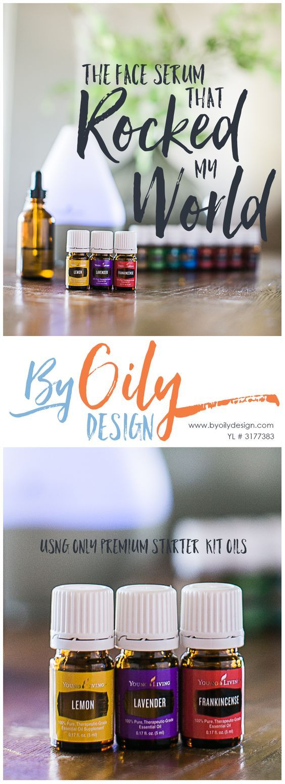Using Young living Essential Oils to create a great DIY all natural essential oil face serum that helps reduce fine lines and even out skin tones.
