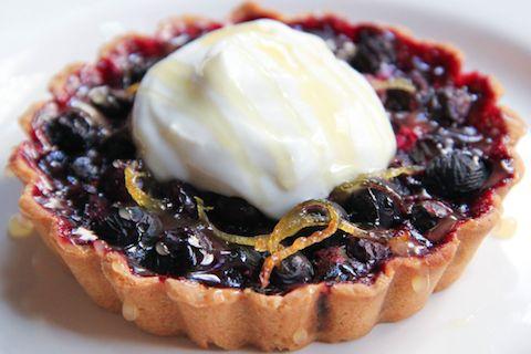 Blueberry Tartlets with Honey and Lemon Zest, I woner If I can use blackberries