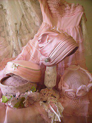 pink vintage hats!