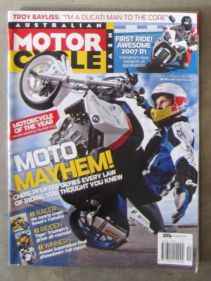 Motorcycle News AMCN Dec 2006 - YAMAHA R1 M1 GUZZI 1200 TRIUMPH TIGER HARLEY CVO