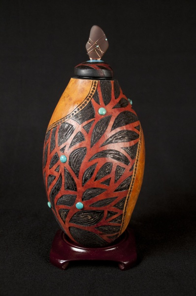 """Holly Parker *Gourd Art - """"Branches""""."""