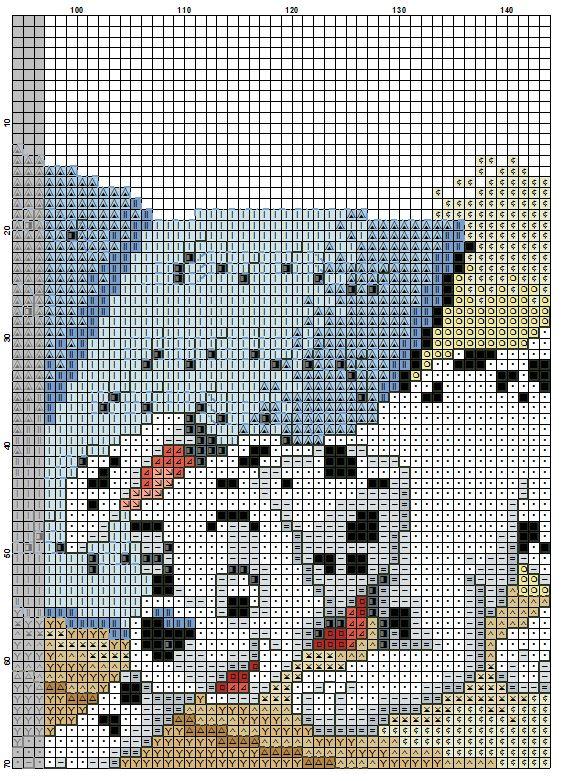 Dalmatian Dogs Cross Stitch Pattern #8