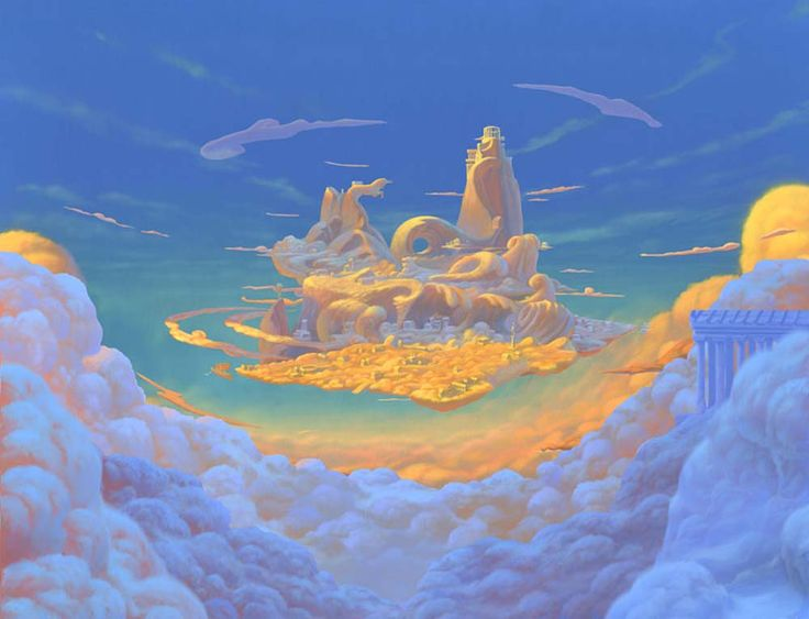 Disney Concept Art to Brighten Your Day Nice picture of Mount Olympus