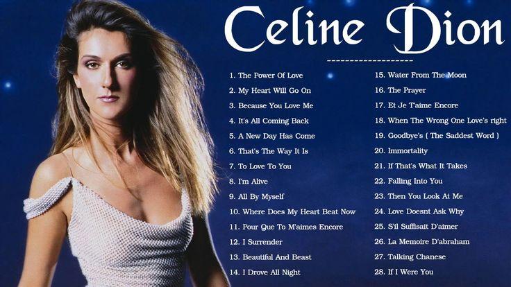 Celine Dion Greatest Hits   Best Songs Of Celine Dion