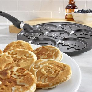 "For the ""undomestic"" mama, check out the NordicWare Holiday Pancake Pan for picture-perfect pancakes for the kiddos on Christmas morning."