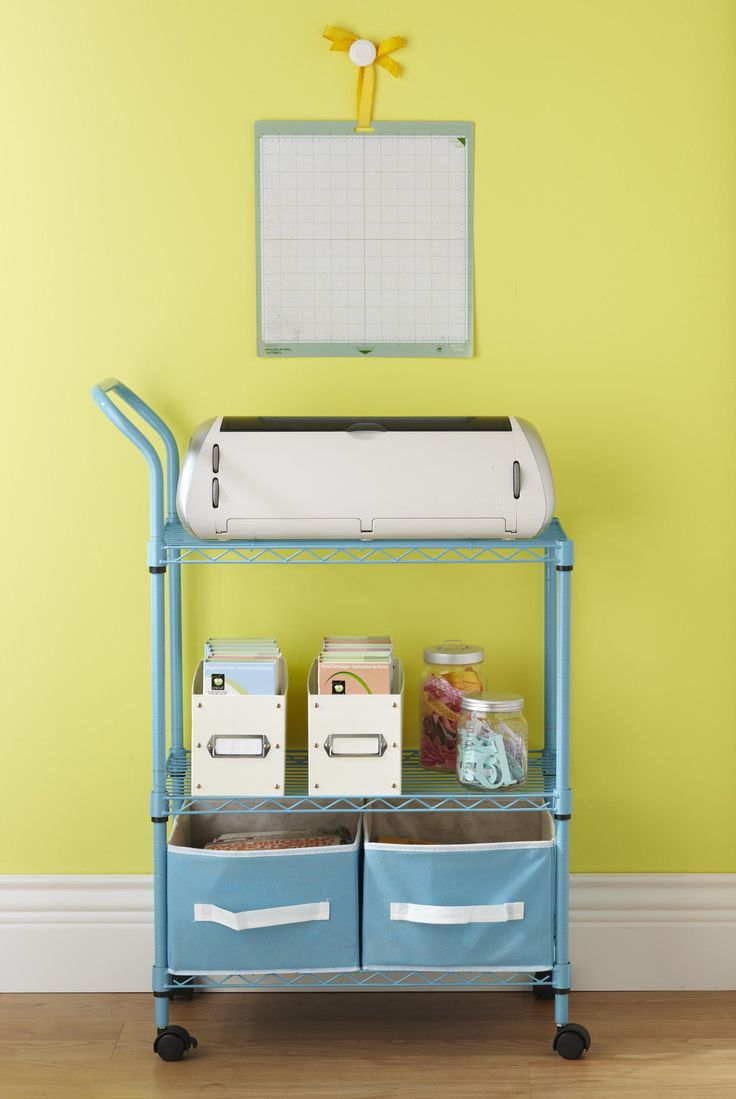 Hanging room iders ikea ideas pictures to pin on pinterest - Great Idea For Simple Organizing A Cricut And Accessories Used An Ikea Utility Cart With Drawer And Hanging Pails Placed Milk Crate On Bottom For Paper