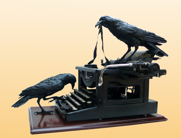 Vicki Banks - Hunt and Peck bronze crows, antique typwriter - Lincoln Center Crafts Festival - 2013