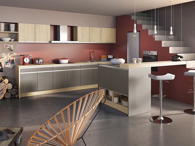 Design mur bordeaux photo socoo 39 c cuisine kitchen - Cuisine couleur bordeaux ...