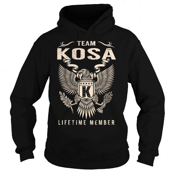 I Love Team KOSA Lifetime Member - Last Name, Surname T-Shirt T-Shirts