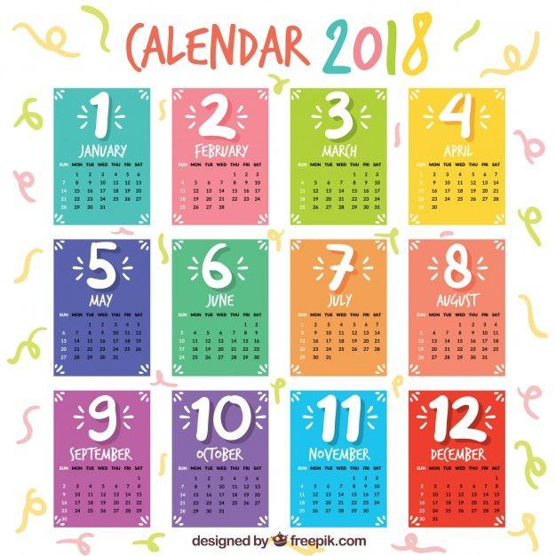 Картинки по запросу красивый календарь на 2018 год
