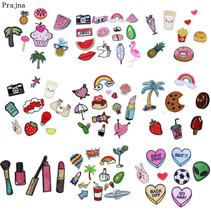 Cheap patch iron on, Buy Quality iron on directly from China patch iron Suppliers: Prajna 1 Set Watermelon Pineapple Patches Embroidery Clothes Stickers Cosmetic Sequin Patch Iron On Cartoon Patches For Clothes