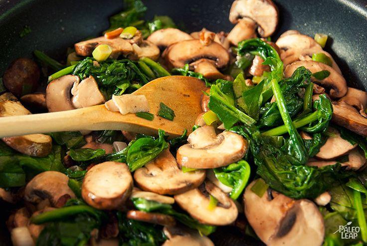 Mushroom and spinach chicken. Use fresh garlic instead of powder