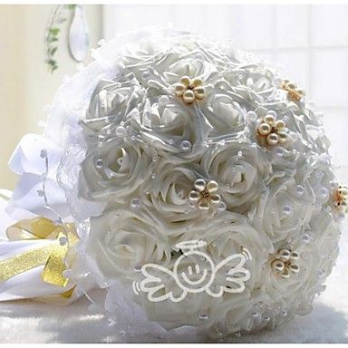 30 Roses Wedding Brooch Bouquets For The Bride Wedding Flowers Bridal Bouquets Boutonnieres (More Colors) – USD $ 34.99