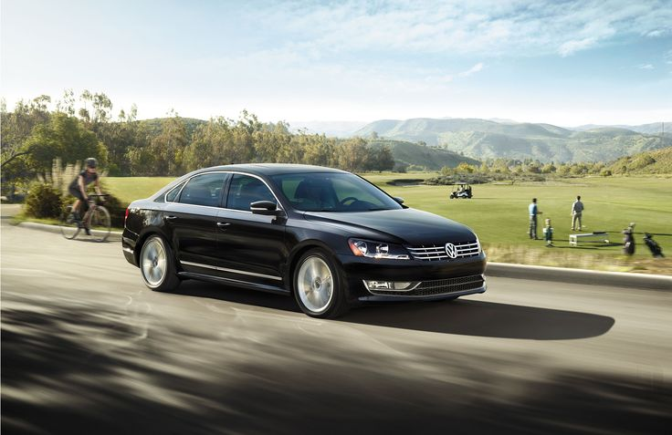 """""""Built for the family that's going places."""" The 2015 Volkswagen Passat. Turbocharged engine. Black 4 door sedan. Touchscreen navigation. Legroom. Remote start. Bluetooth. Automatic headlights. Available at Brookdale Volkswagen today!"""