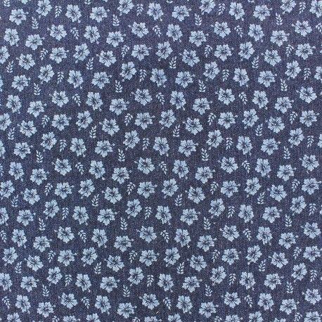 Tissu jeans Little blossom x 10cm
