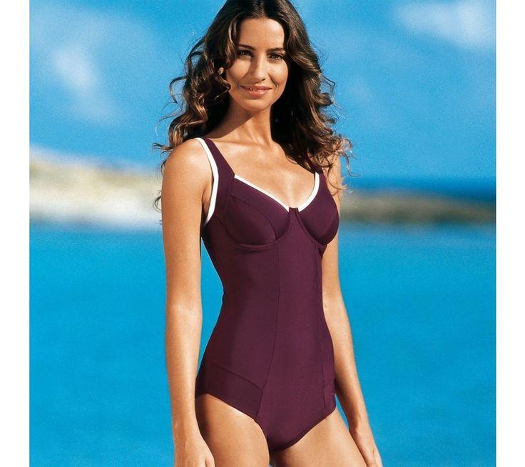 Jednodílné plavky s lemováním, menší postava | vyprodej-slevy.cz #vyprodejslevy #vyprodejslecycz #vyprodejslevy_cz #swimsuit