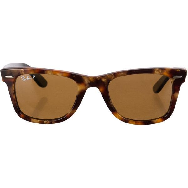 #ray #bans Ray-Ban Wayfarer Sunglasses ($85) ❤ liked on Polyvore featuring accessories, eyewear, sunglasses, brown, ray-ban wayfarer, wayfarer style glasses, brown sunglasses, brown glasses and ray ban glasses