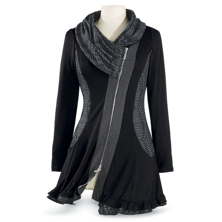 Black Shawl/Cowl Tunic - Best Selling Gifts, Clothing, Accessories, Jewelry and Home Décor