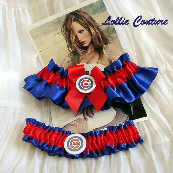 Chicago Cubs  Wedding Garters by lolliecouture on Etsy, $50.00