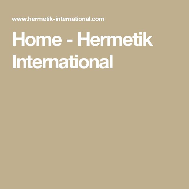 Home - Hermetik International