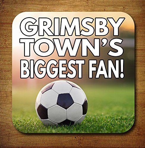 Grimsby Town de plus grand Fan de football Dessous-de-verre–Cadeau d'anniversaire/cadeau: Thème du football dessous-de-verre Excellent…