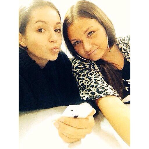 With fleurtje @school