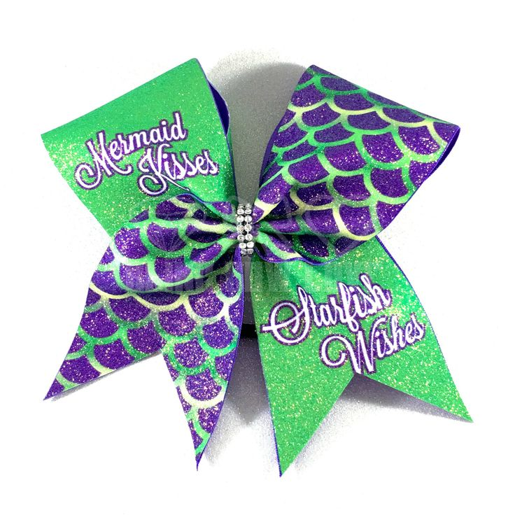 Mermaid Kisses & Starfish Wishes Bling Bow Love is committed to creating high quality cheer style bows. We can help with individual and team orders for practice, sideline or competition all at an affo