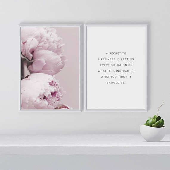 Hey, I found this really awesome Etsy listing at https://www.etsy.com/listing/585875465/peony-print-set-inspirational-print